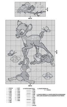Just Cross Stitch, Cross Stitch Charts, Deer Crossing, Bambi Disney, Disney Cross Stitch Patterns, Crochet, Gaia, Boys, Strands