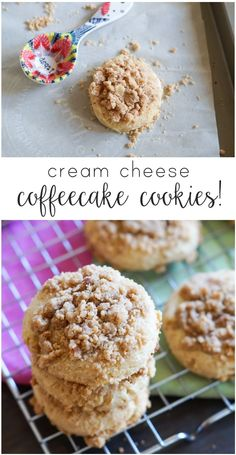 Cream Cheese Coffeecake Cookies ... soft, pillowy, cream cheese ...