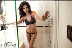Deena Kacie in a black thong