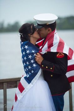 Beautiful Forth Of July Wedding In Jacksonville NC Check Out This Red White And Blue Themed Military Fourth Ideas American Flag