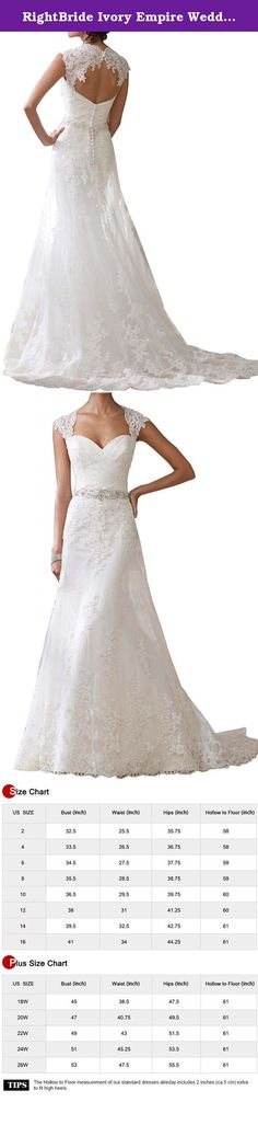 RightBride Ivory Empire Wedding Dresses for Women Sweetheart Bride Dress A-Line Lace Crystals (02). RightBride Ivory Empire Wedding Dresses for Women Sweetheart Bride Dress A-Line Lace Crystals (02) RightBride, Just as the store name indicates, is always dedicated to be the Right online shop on Amazon for wedding dresses for bride, So quality is our first priority. 1.With high quality fabrics, beads, pearls, crystals and threads, RightBride are always producing wedding dresses for bride…