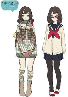 Anime girls by Momo-Honey.deviantart.com on @deviantART