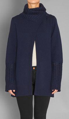 Libelula Knit Coat Navy | Austique