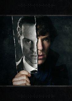Sherlock (BBC) - Sherlock Holmes and James Moriarty   #IBelieveInSherlockHolmes