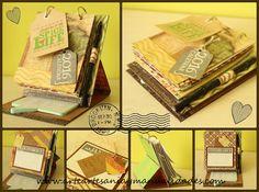 Arte, Artesania y Manualidades: Tutorial Scrapbooking: Calendario de sobremesa porta notas