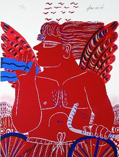 Greece~~~Alecos Fassianos (Greek, b. Painter Artist, Artist Art, Greece Painting, Modern Art, Contemporary Art, Greek Design, Greek Art, 10 Picture, Conceptual Art