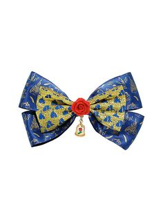 Disney Beauty And The Beast Enchanted Rose Hair Bow,