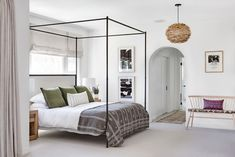 my scandinavian home: A Beautiful, Spanish Style House in California Mediterranean Style Homes, Spanish Style Homes, Small Room Bedroom, Home Decor Bedroom, Master Bedroom, Gray Bedroom, Pottery Barn Bedrooms, California Homes, Scandinavian Home