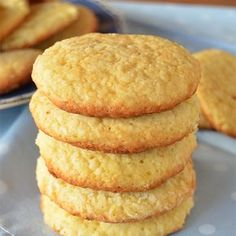 Orange and Coconut Cookies - tortas - Recetas Cookie Recipes, Dessert Recipes, Good Food, Yummy Food, Rich Recipe, Pan Dulce, Coconut Cookies, Cake Cookies, Sweet Recipes
