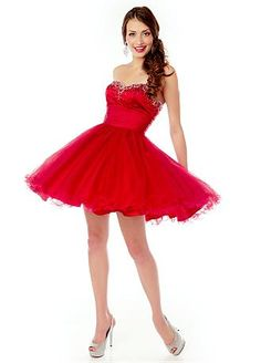 Elegant Stretch Satin & Tulle Sweetheart Neckline Short A-line Cocktail Dress
