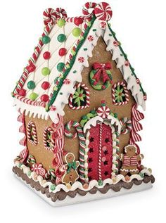 This little house is so realistic that it looks like it is crafted of gingerbread, icing and candy.