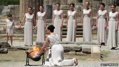 10 May The Olympic flame being lit at the Temple of Hera in Greece before beginning its journey to the London 2012 Olympic Games. Arriving in the UK on 18 May