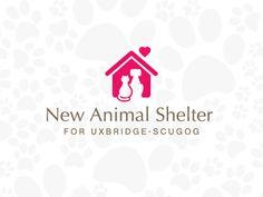 Negative Space Logos, Minimal Logo, Animal Shelter, Business, Animal Shelters, Store, Business Illustration