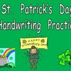 Do your students need extra practice with handwriting?? I know that mine do!! So, I created this packet of free handwriting pages for St. Patrick's...