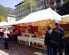 Open air market in Piazza Cavour ~ Como, Italy