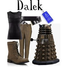 Dalek, created by companionclothes on Polyvore