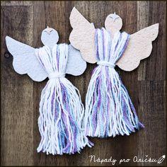 Christmas Angel Ornaments, Christmas Angels, Kids Christmas, Handmade Christmas, Christmas Crafts, Christmas Decorations, Diy And Crafts, Crafts For Kids, Homemade Paint