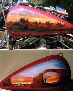 Motorradtank Airbrush Atelier Torsten Rachu - custom painting Berlin, Motorrad Tankbemalungen mit Airbrush, airbrush Bike, scooter, vespa