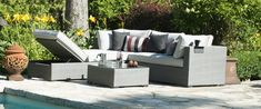 Choose from over 50 collections to find the perfect set to fit your backyard design, style, and layout. Choose from different colours and seating options. Outdoor Sectionals, Family Pool, Furniture Collection, Outdoor Furniture, Outdoor Decor, Backyard Landscaping, Feng Shui, Pools, Furniture Design