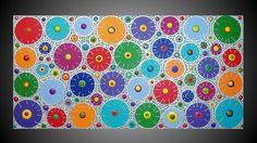 abstrait acrylique peinture cercles colores art xl de ~ acrylkreativ ~ Peintures acryliques modernes ~ sur DaWanda.com