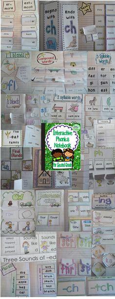 Interactive Notebook: Phonics {Second Grade} 2nd Grade Ela, First Grade Phonics, Teaching Second Grade, 2nd Grade Classroom, First Grade Reading, Classroom Ideas, Grade 2, Teaching Phonics, Teaching Reading