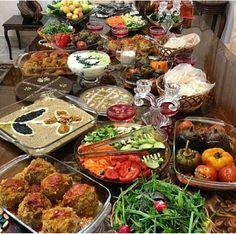 Iranian Feast. Loving the colors!