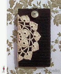 crochelinhasagulhas: Porta celular em crochê