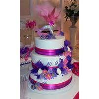 Masquerade Purple And Fuschia Cake Cakes By Erika Hawaii Dermatology