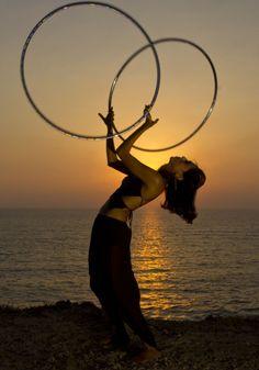 sunset hooping