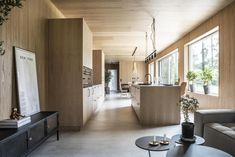 Today I'm taking you to southern Sweden for a look around a stunning new-build house where architecture and interior design work in perfect harmony. Wooden Cladding, Wooden Panelling, Interior Design Work, Interior Exterior, Cabin Style Homes, Sweden House, Cabin In The Woods, Exterior Cladding, Nordic Design