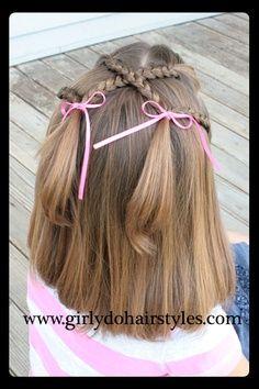 A baby cross hair style...