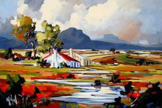 Artwork of Carla Bosch exhibited at Robertson Art Gallery. Original art of more than 60 top South African Artists - Since Acrylic Artwork, Canvas Artwork, Acrylic Paintings, Landscape Artwork, Abstract Landscape, Tree Artwork, South African Artists, Art For Art Sake, Cool Paintings