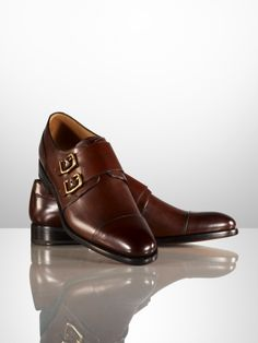 ca9ce6cb67 Ralph Lauren Purple Label O'Brian Burnished Monk Strap Double Monk Strap,  Gentlemen Wear