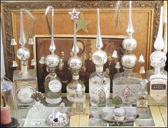 Vintage glass tree topper collection
