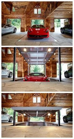 New Luxury Cars Garage Man Cave Ideas Garage House, Car Garage, Garage Room, Design Garage, House Design, Luxury Cars, Luxury Homes, Cool Garages, Luxury Garage