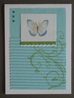 Perfect Pearls butterfly card