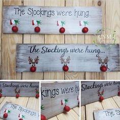Christmas Stocking Holder Holiday Decor The Grinch/Rudolph image 0 Grinch Christmas, Christmas Wood, Christmas Candles, Modern Christmas, Christmas Gift Tags, Christmas Signs, Diy Christmas Ornaments, Holiday Crafts, Christmas Craft Show