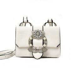 fd9d07b925 Buy Aishang Rhinestone Faux-Leather Shoulder Bag at YesStyle.com! Quality  products at