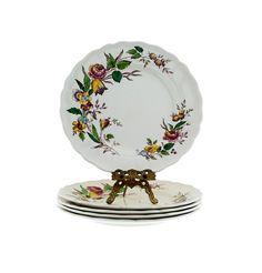 Grindley Plates Set of 5 Marlborough Royal Petal  by PlumsandHoney