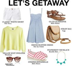 Need a vacay? Plan the perfect weekend getaway and be sure to pack these summer staples.