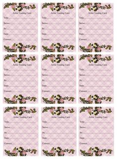 wendy`s crafting times: Free ATC Backs