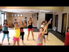 Kid friendly Zumba for today's video, kids like it as much as we do sometimes!