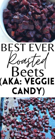 These Roasted Beets taste like CANDY! They are an addicting, but healthy dessert and/or snack your whole family will love!
