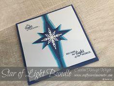 CraftyCarolineCreates: Star Burst Christmas Card Idea using Star of Light by…