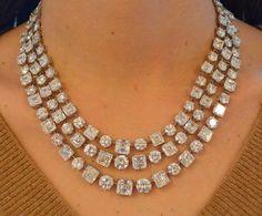 Diamond necklace, by Graff.