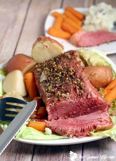 Slow Cooker Corned Beef and Cabbage is the perfect traditional dish to celebrate St Patrick's Day. Fix it and forget it with this easy Crockpot version. From TheGraciousWife.com