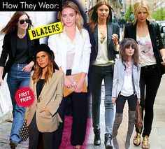Celeb Style- How They Wear Blazers on SALE now at SirenShop  www.stores.ebay.com/sirenshop