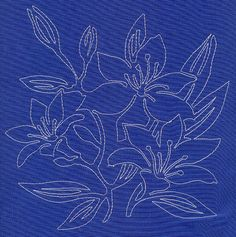 Lily Sashiko Square (Single Run)