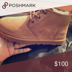 Boy uggs Tan lowtop boy uggs size 5 UGG Shoes Ankle Boots & Booties