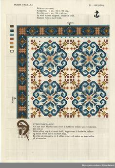 Crochet Border Stitch Museumssenteret i Hordaland Cross Stitch Sampler Patterns, Cross Stitch Borders, Crochet Borders, Cross Stitch Samplers, Cross Stitch Charts, Cross Stitch Designs, Cross Stitching, Cross Stitch Embroidery, Embroidery Patterns